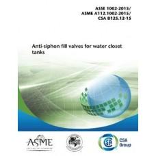 ASME A112.1002-2015/ASSE 1002-2015/CSA B125.12-15